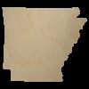 Wooden Arkansas State Shape