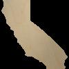 California Wood State Shape