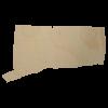 Connecticut wood state shape cutout