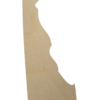 Delaware state wood cutout