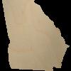 Georgia wood state shape cutout
