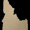 Idaho wood state cutout