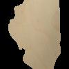 Wooden Illinois state cutout