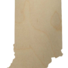 Wooden Indiana State Shape