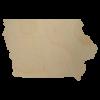 Iowa wooden shape