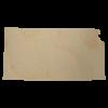Kansas wood cutout