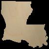 Louisiana wooden cutout