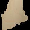 Maine State Wood Cutout