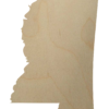 Wooden Mississippi Cutout