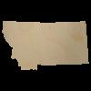 Montana State Wood Cutout