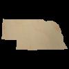 Nebraska State Wood Cutout