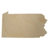 Pennsylvania Wood Cutout