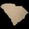 South Carolina Wood Cutout