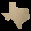 Wooden Texas State Shape Cutout