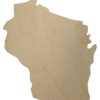 Wisconsin State Wood Cutout