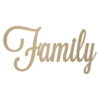Family wooden word cutout