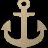Wooden Anchor Shape