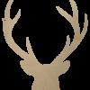 Wooden Buck Head Cutout Shape