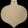 Wooden Christmas Ornament Shape Cutout