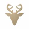 Wooden Reindeer Face Cutout