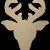 Wooden Reindeer Face Shape Cutout