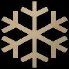 Wooden Snowflke Shape Cutout