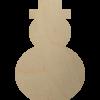 Wooden Snowman Shape Cutout