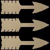 Wooden Arrow Cutout