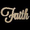 Wooden Faith Word Cutout