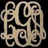 Wooden Scipt Monogram